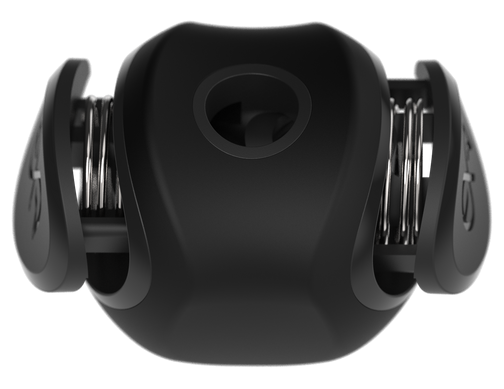 Push-buttons with lock-spring 3D view of cymlok (QCN-8) quick-set cymbal nut replacement for standard cymbal wing nuts for drums.