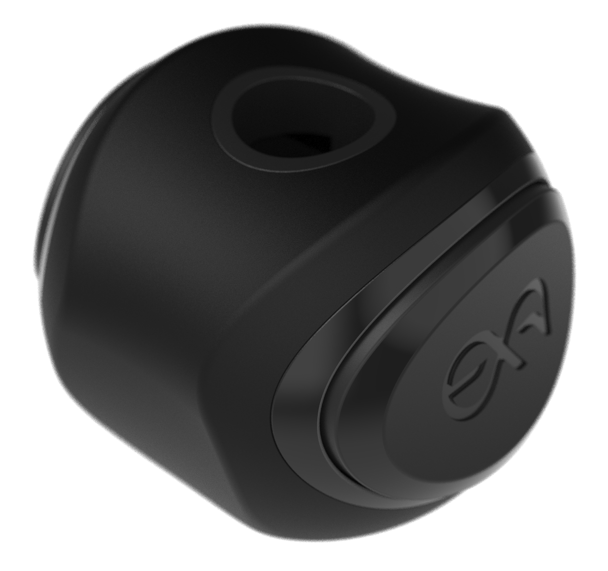 Perspective view of a cymlok cymbal nut for drums.